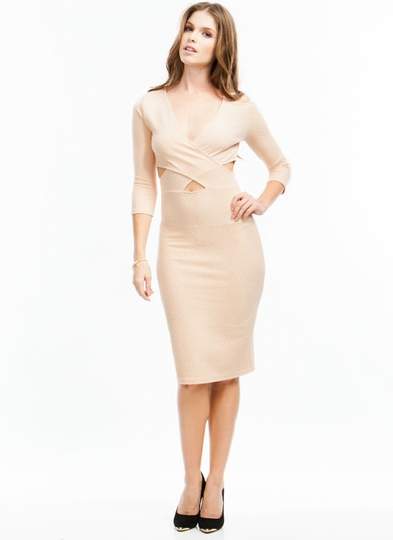 Diamond Textured Midi Dress