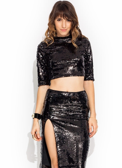 Disco Inferno Mockneck Top