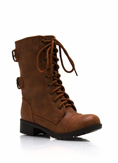 Do Get Combative Lace-Up Boots