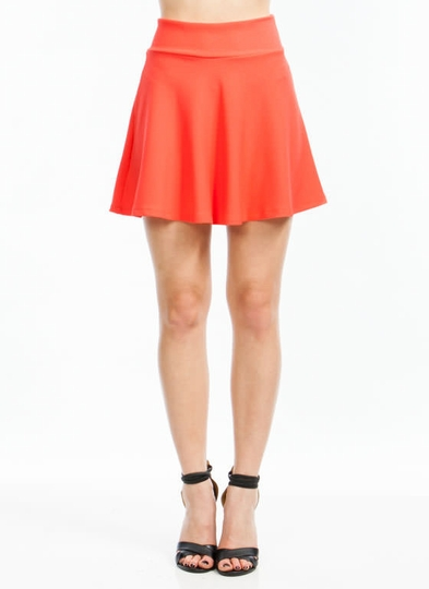 Do Me A Solid Textured Skater Skirt