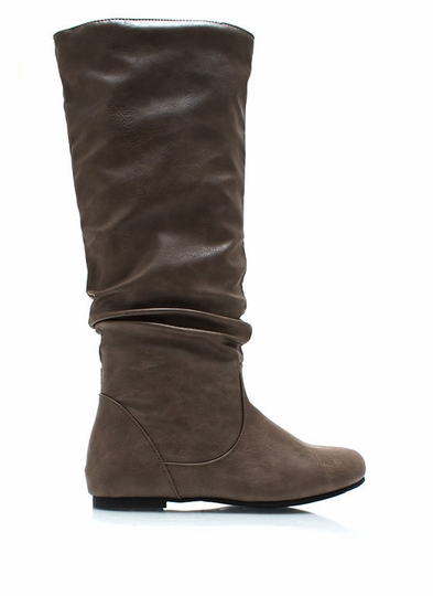Do Slouch Faux Leather Boots