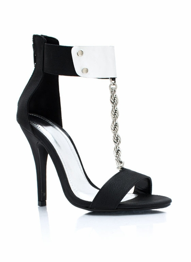 Do The Twist Chain Heels