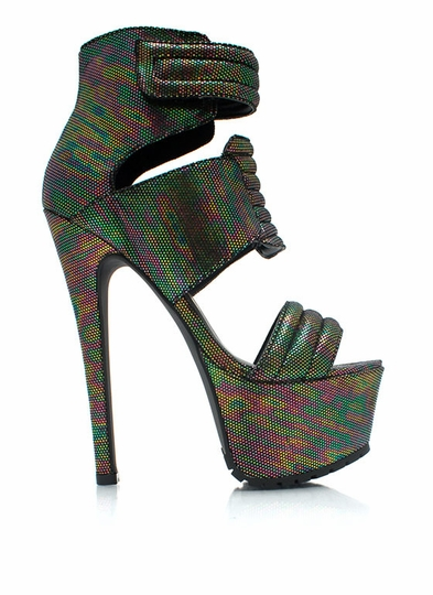 Dot The I-Ridescent Heels