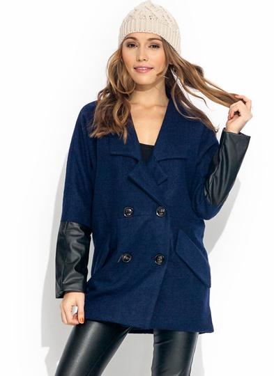 Double-Breasted Dolman Coat