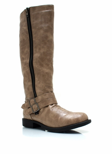 Double Buckle Riding Boots
