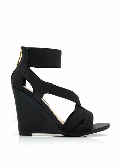 Double Cross Me Strappy Wedges