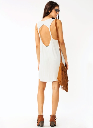 Double Cross Open Back Dress
