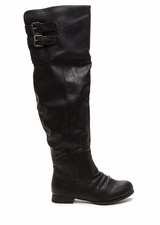 Double Exposure Faux Leather Boots