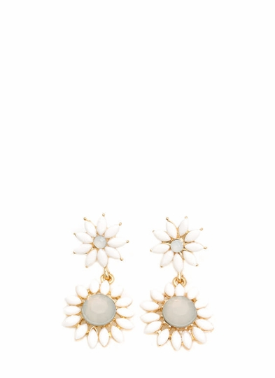 Double The Daisy Dangling Earrings