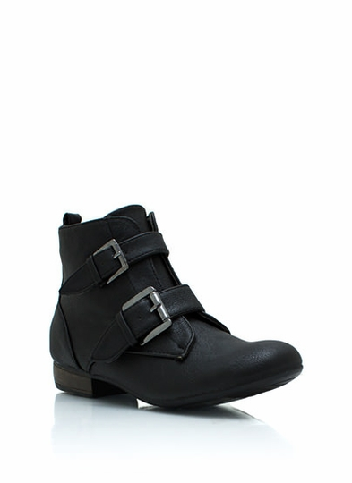 Double Trouble Faux Leather Boots