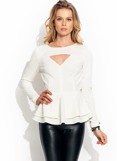 Double Up Open-Back Peplum Top