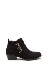 Doubled Over Faux Suede Booties
