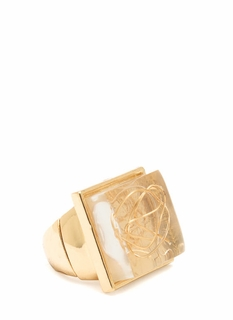 Down To The Wire Lucite Ring