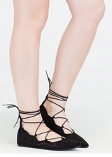 Downtown Daytrip Cut-Out Lace-Up Flats