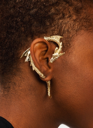 Dragon Warrior Cuff Earring