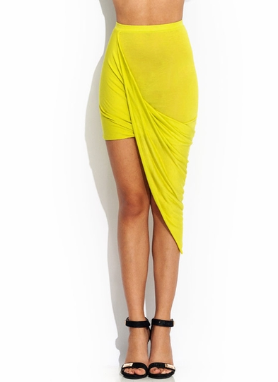 Drape Up Asymmetrical Skirt