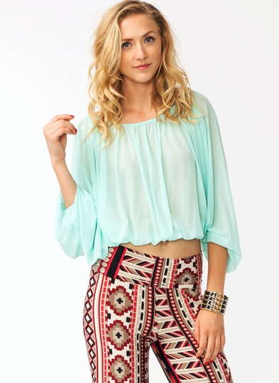 Draped Bubble Top