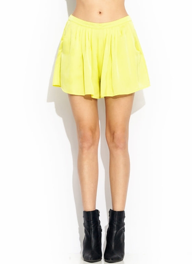 Draped Pleated Shorts