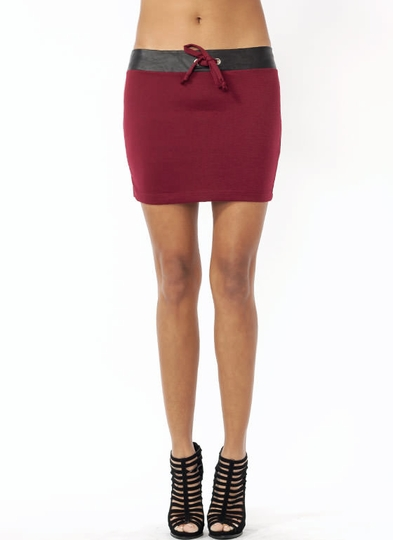 Drawstring Conclusion Mini Skirt
