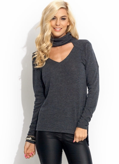 Duo V Turtleneck Top