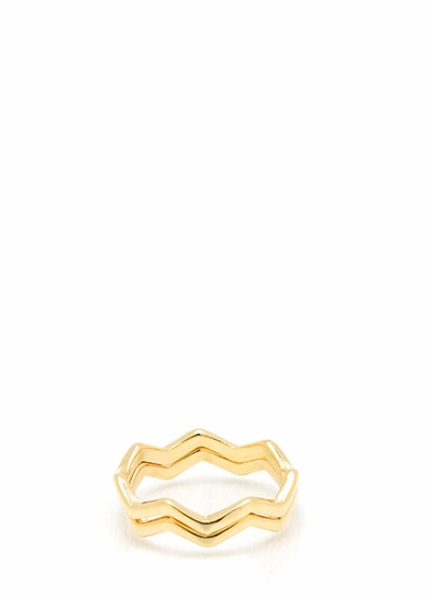Duo Zig Zag Ring Set