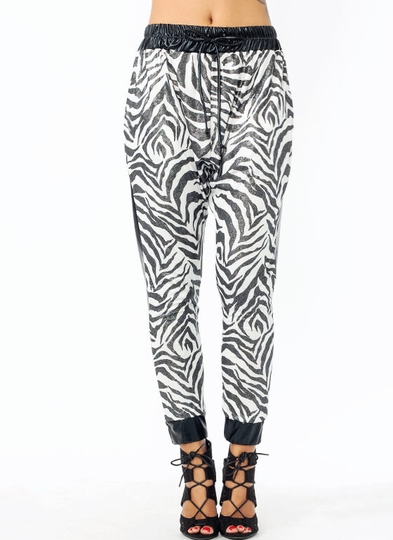 Earn Your Stripes Shiny Joggers