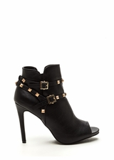 Edgy 'N Chic Strappy Studded Booties