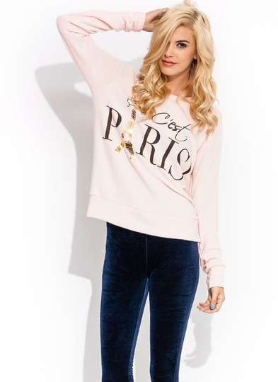 Eiffel Power Graphic Paris Sweater