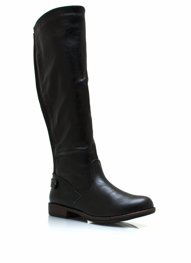 Elastic Back Riding Boots