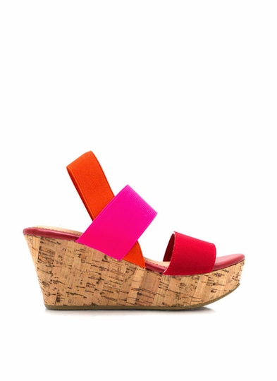 Elastic Strap Cork Wedges