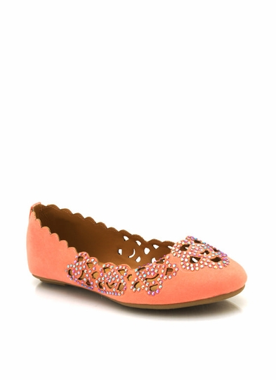 Embellished Cut-Out Flats