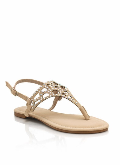 Embellished Cut-Out Sandals