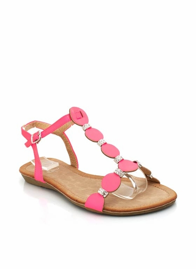 Embellished Disc Sandals
