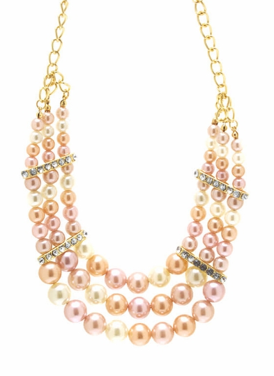 Embellished Layered Bead Necklace Set