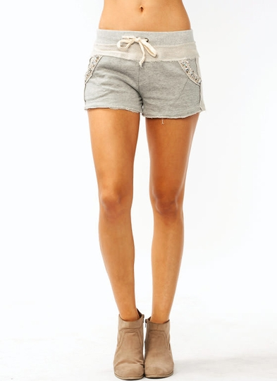 Embellished Lounge Shorts