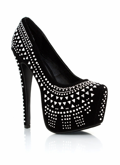 Embellished Platform Pumps