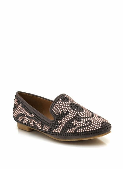 Embellished Smoking Flats