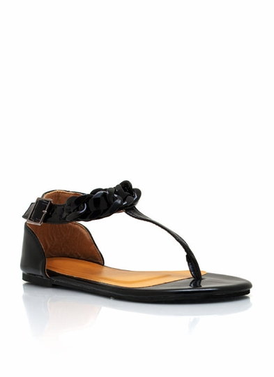 Embrace Chain-ge T-Strap Sandals