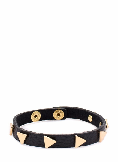 Equilateral Faux Leather Bracelet