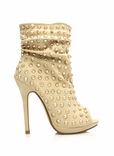 Everything Is Better Spiked Booties