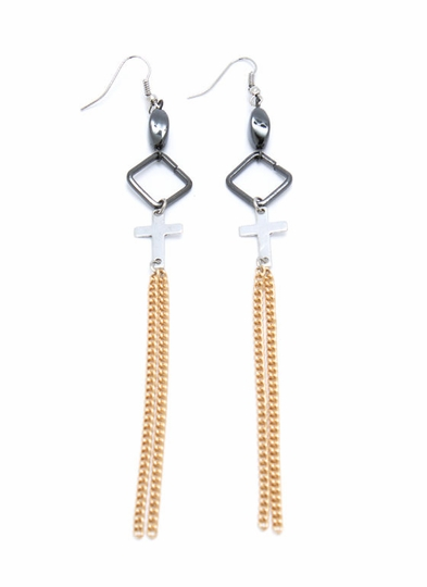 Extreme Crossover Chain Earrings