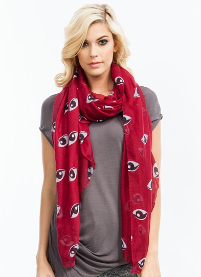 Eye See You Sheer Scarf