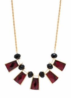 Face Facets Jeweled Necklace