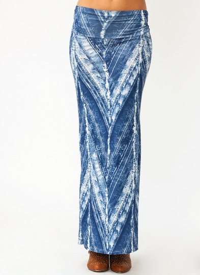 Faded Zigzag Maxi Skirt