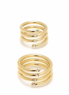 Fancy Fingers Coil Ring Duo