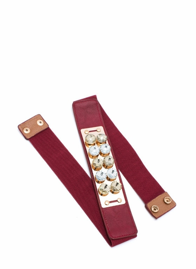 Fancy Stones Plate Belt