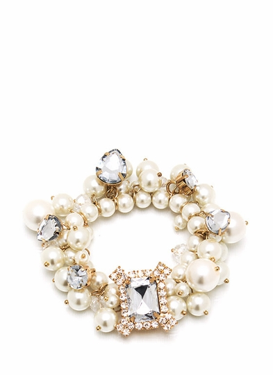 Fancy That Jeweled Pearl Bracelet