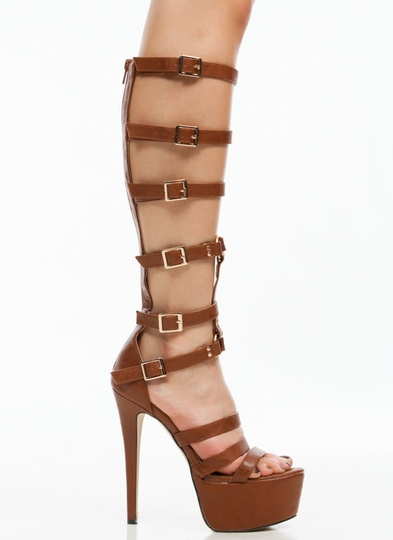 Fasten Up Strappy Gladiator Heels