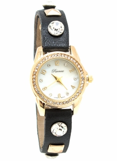 Faux Jewel N Stud Watch