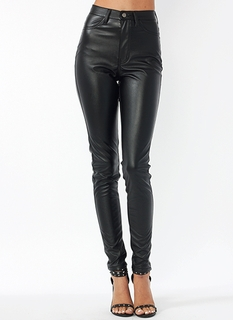 Faux Leather Biker Babe Pants